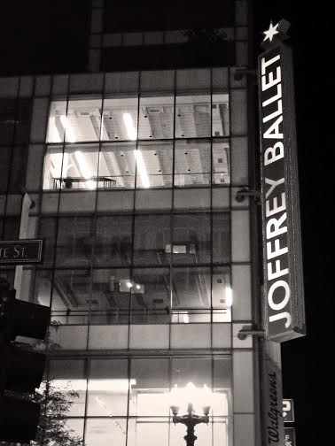 the joffery  ballet was just a few blocks away from our hotel!
