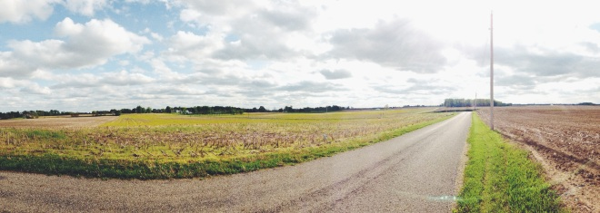 typical scenery I get to see on my runs-- look at how vast and beautiful that sky is!